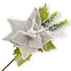 Hessian Christmas Flower with Berries