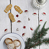 Christmas Mix Wooden Table Confetti