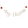 'Merry Christmas' Wooden Bunting